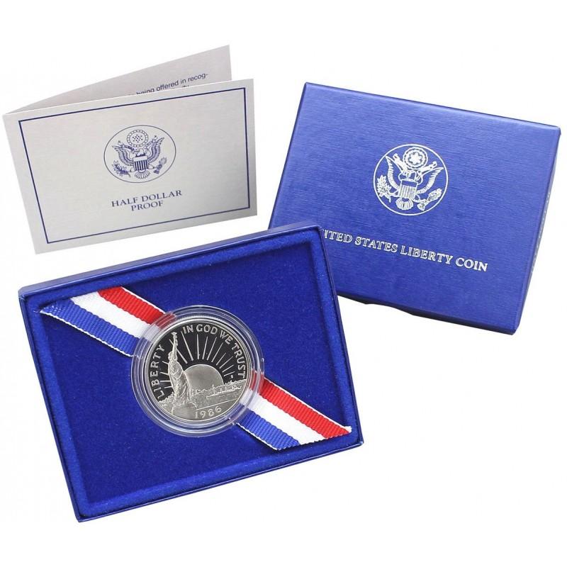 1986-S U.S. Mint Statue of Liberty CLAD Half Dollar Proof