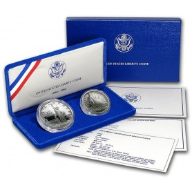 1986-S U.S. Mint Liberty 2-Coin Proof Set