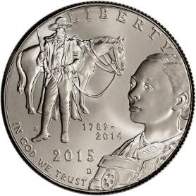 2015-D U.S. Marshals Service 225th Anniversary CLAD Half Dollar UNC