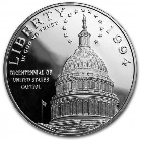 1994-S U.S. Capitol Bicentennial Proof Silver Dollar