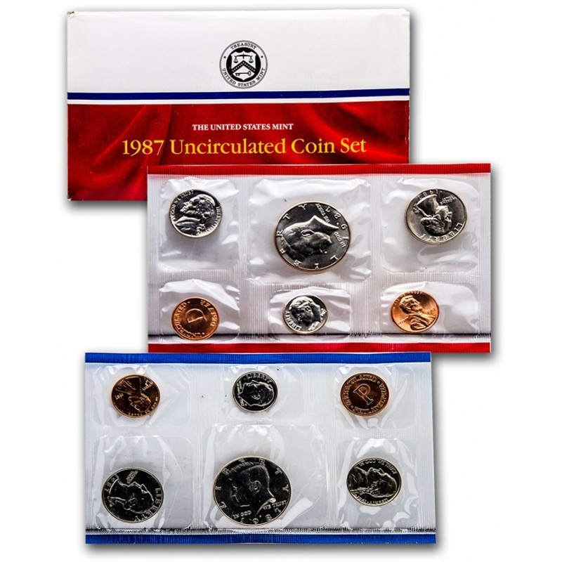 1987 United States Mint Uncirculated Coin Set