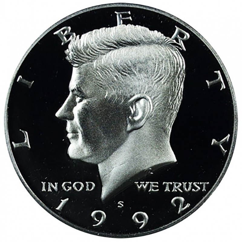 1992-S Kennedy Half Dollar 90% Silver Proof