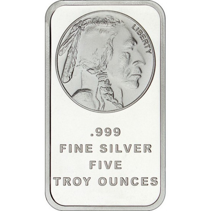 Reverse Obverse 1 oz LIBERTY Indial Head .999 Silver Bar Proofs Buffalo