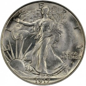 1917-D Obverse mint mark Walking Liberty Half Dollar