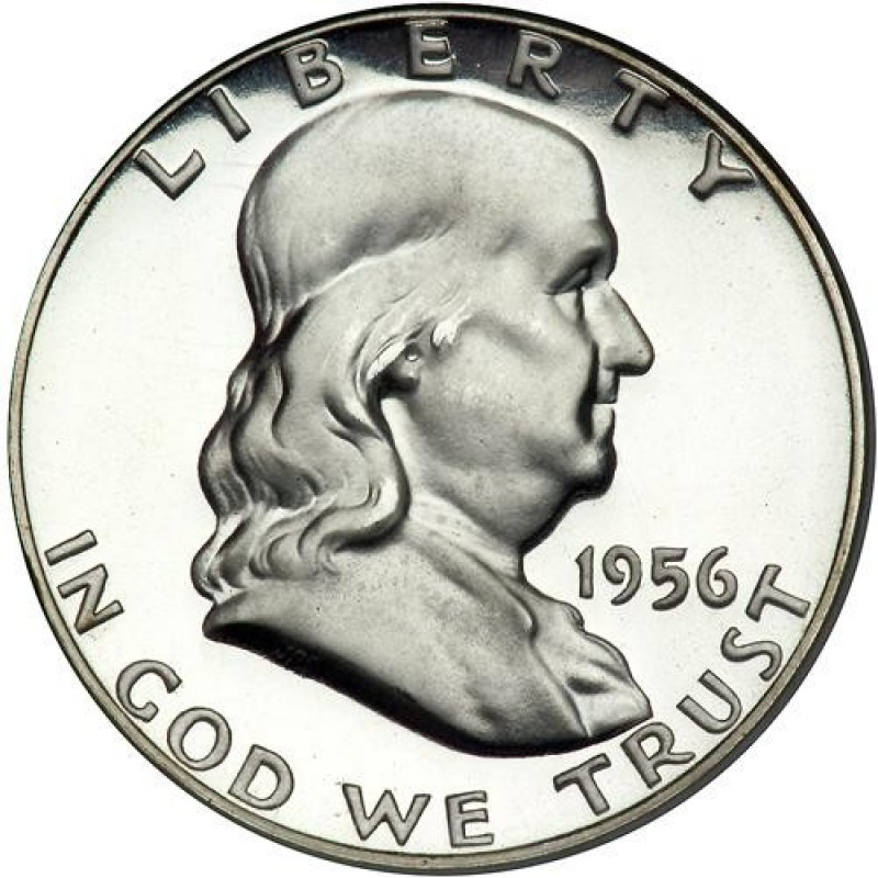 1956-P Type 2 Franklin Half Dollar