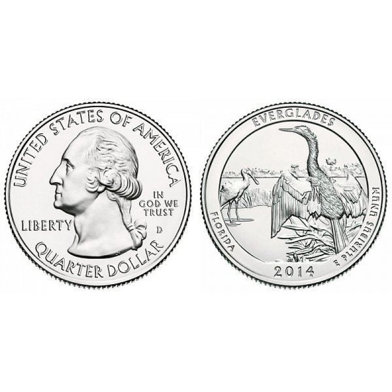 2014-D Everglades America The Beautiful Quarters National Park Quarters