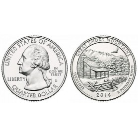 2014-D Great Smoky Mountains America The Beautiful Quarters National Park Quarters