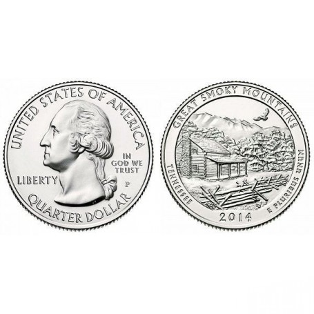 2014-P Great Smoky Mountains America The Beautiful Quarters National Park Quarters