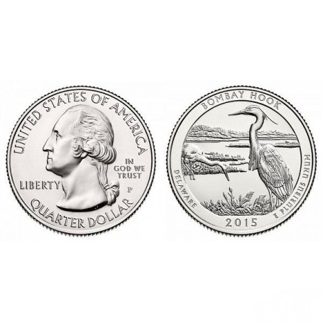 2015-P Bombay Hook America The Beautiful Quarters National Park Quarters