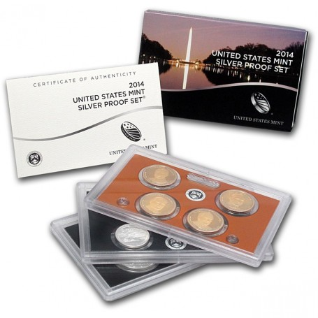 2014-S U.S. Mint Silver Proof Set