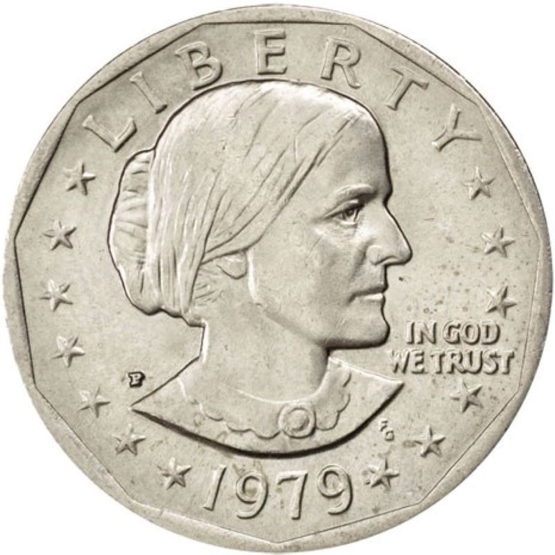 1979-P Susan B. Anthony Dollar Narrow Rim/Far Date Variety