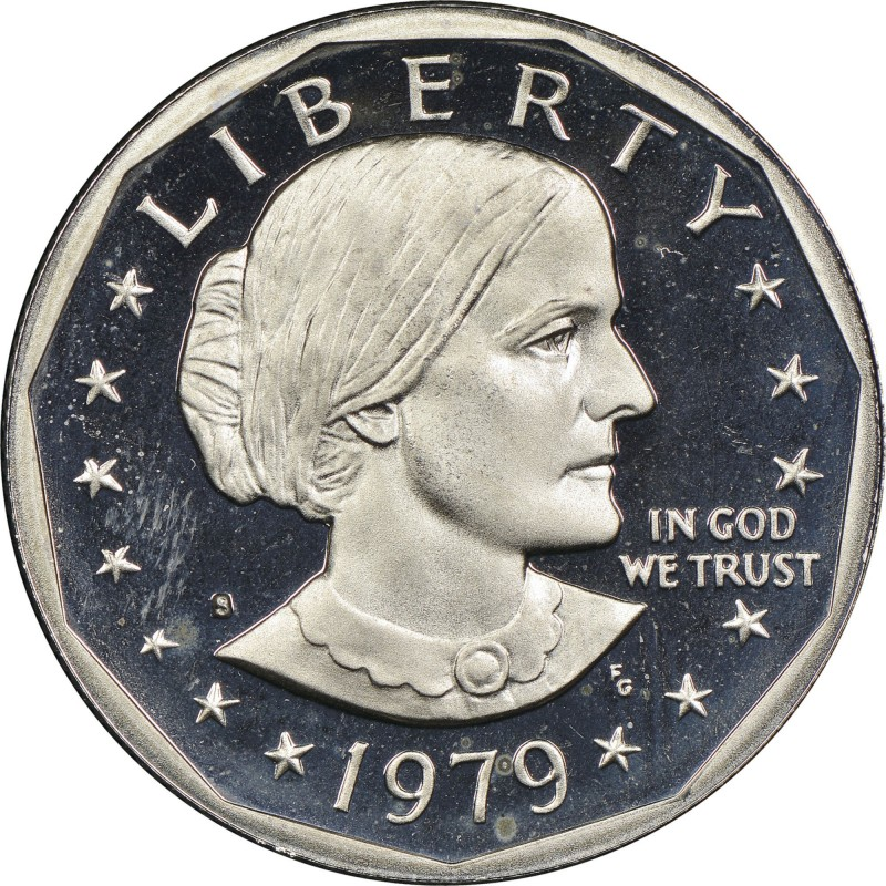 "1979-S Susan B. Anthony Dollar Filled ""S"" Proof Type 1"