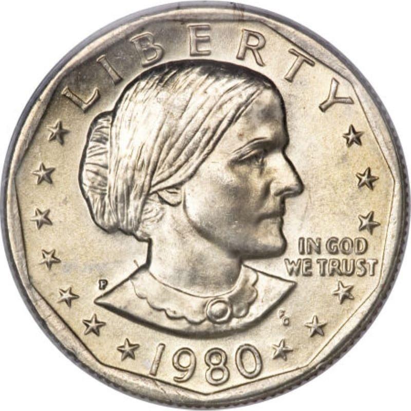 1980-P Susan B. Anthony Dollar