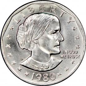 1980-D Susan B. Anthony Dollar