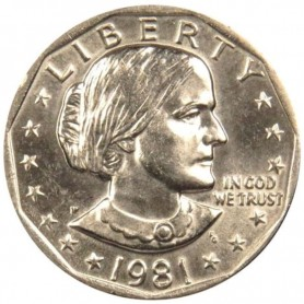 1981-P Susan B. Anthony Dollar