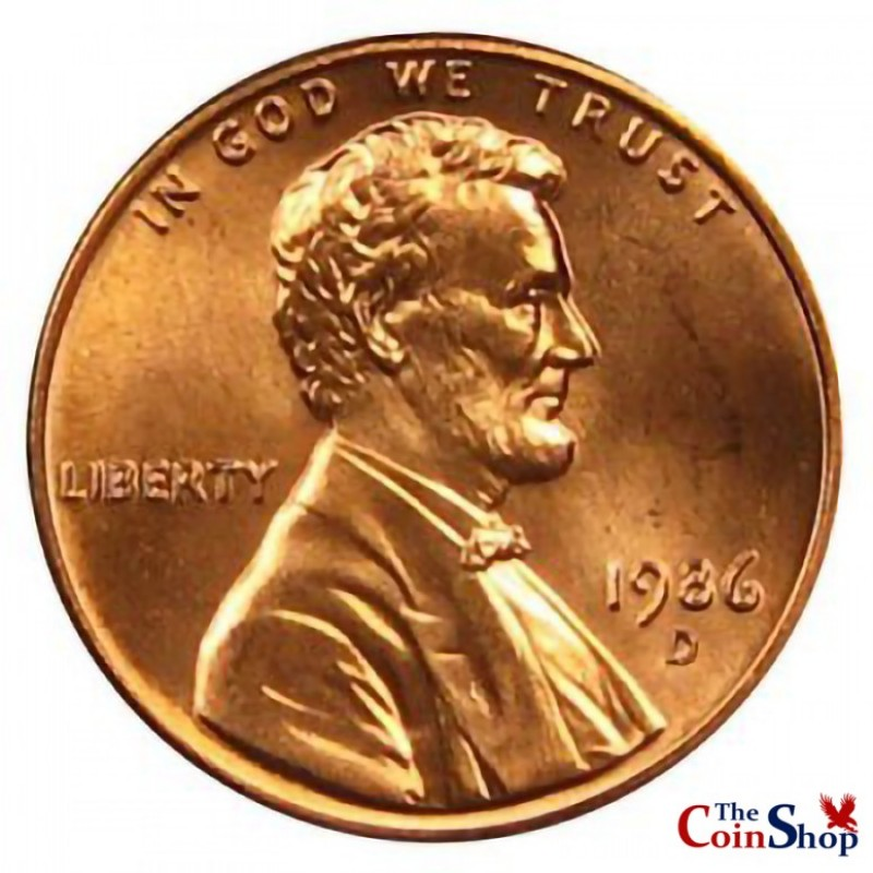 1986-D Lincoln Cent