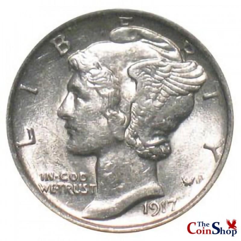 1917-D Mercury Dime