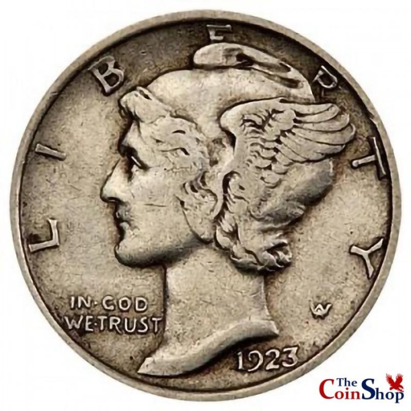 1923-P Mercury Dime