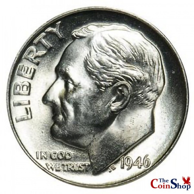 1946-P Roosevelt Dime