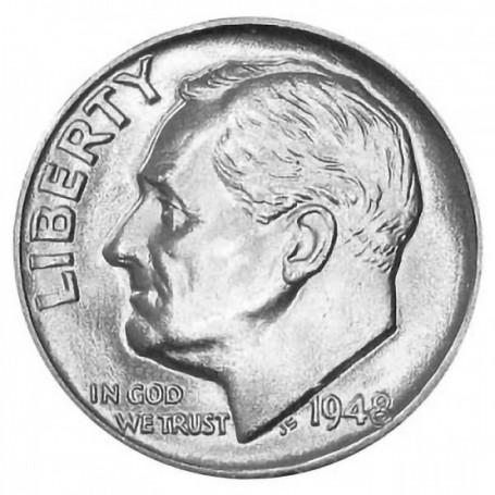 1948-P Roosevelt Dime