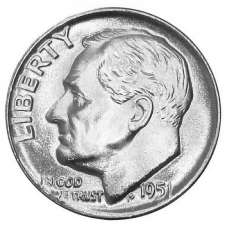 1951-D Roosevelt Dime