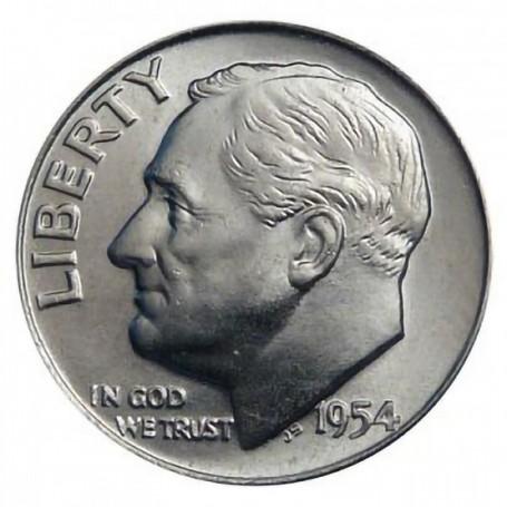 1954-P Roosevelt Dime