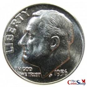 1956-D Roosevelt Dime
