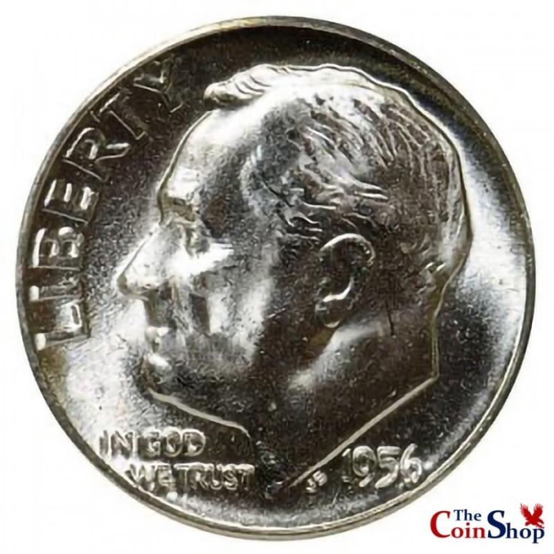 1956-P Roosevelt Dime
