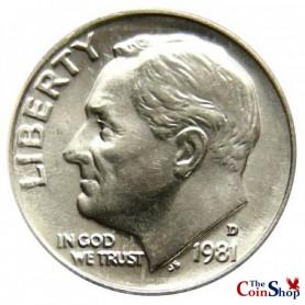 1981-D Roosevelt Dime