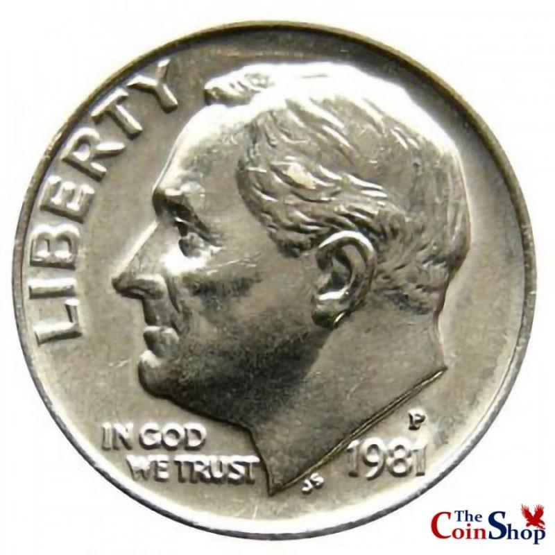 1981-P Roosevelt Dime