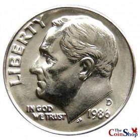 1986-D Roosevelt Dime