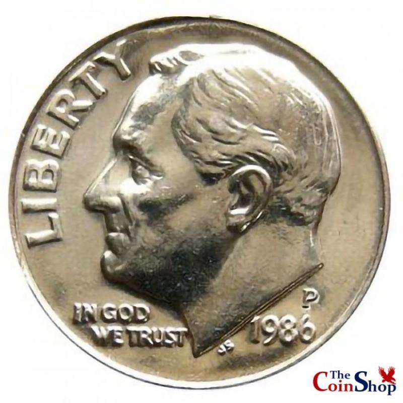 1986-P Roosevelt Dime