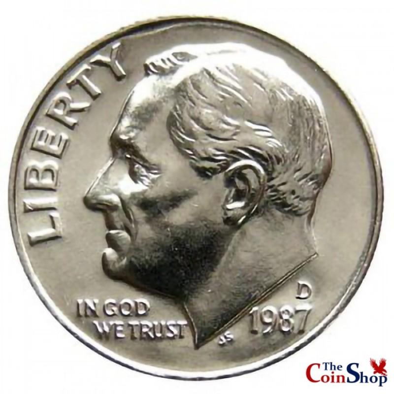1987-D Roosevelt Dime