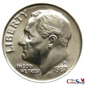 1987-P Roosevelt Dime