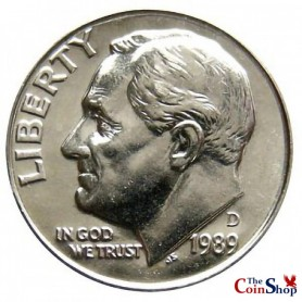 1989-D Roosevelt Dime