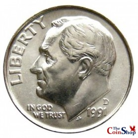 1991-D Roosevelt Dime