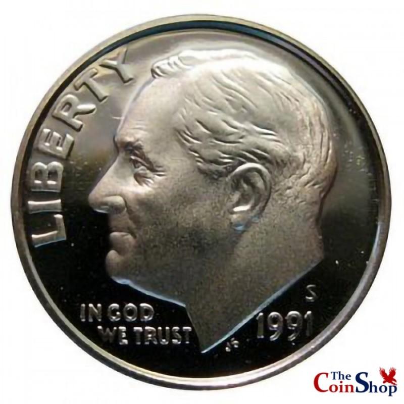 1991-S Roosevelt Dime