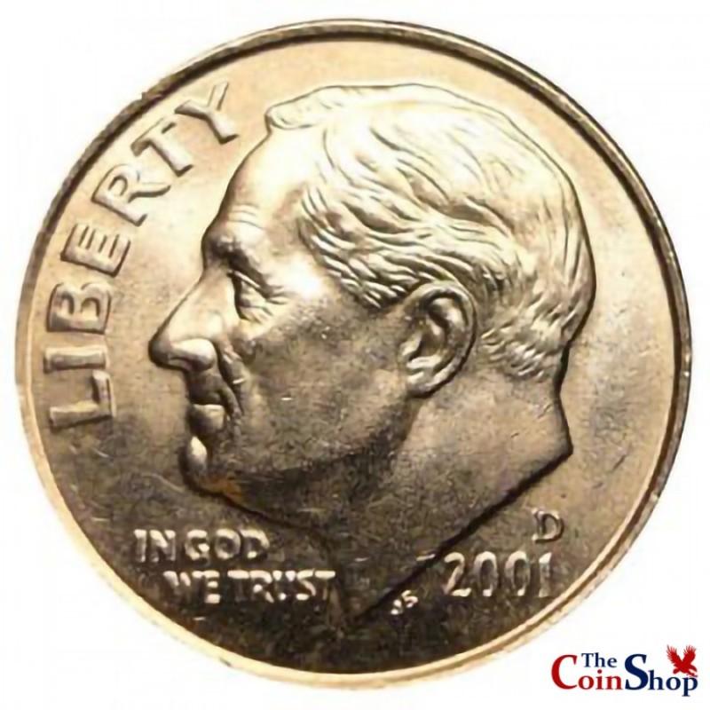 2001-D Roosevelt Dime