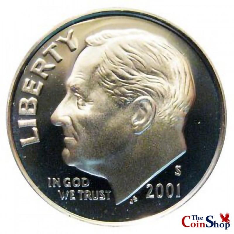 2001-S Roosevelt Dime