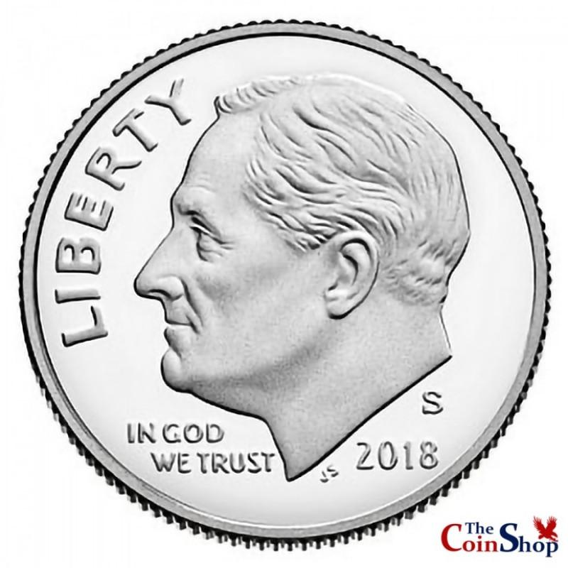 2018-S Roosevelt Dime