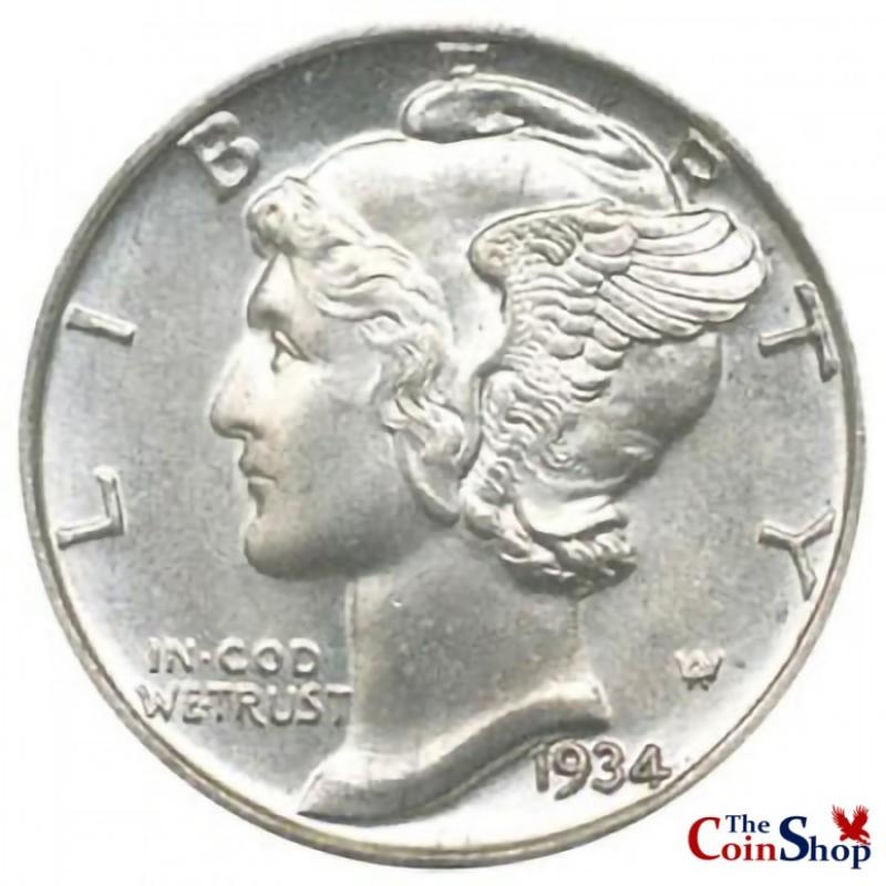 1934-D Mercury Dime