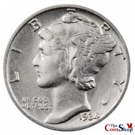 1934-P Mercury Dime