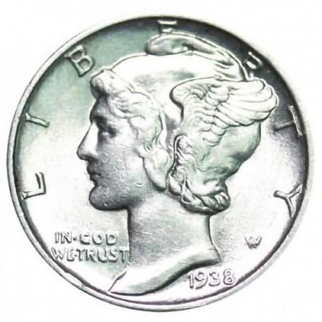 1938-P Mercury Dime