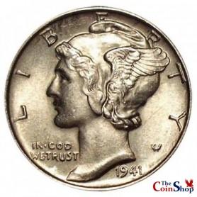 1941-P Mercury Dime