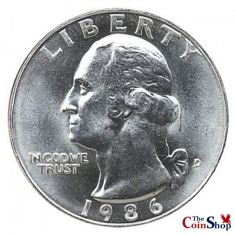 1986-D Washington Quarter