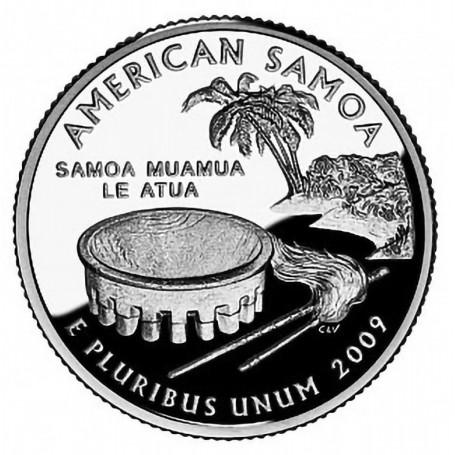 2009 S AMERICAN SAMOA *90/% SILVER PROOF* QUARTER   **FREE SHIPPING**