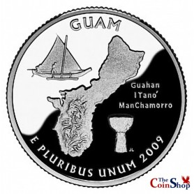 2009-S Guam Silver Quarter Proof