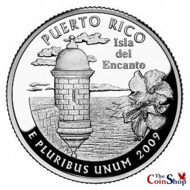 2009-S Puerto Rico Silver Quarter Proof