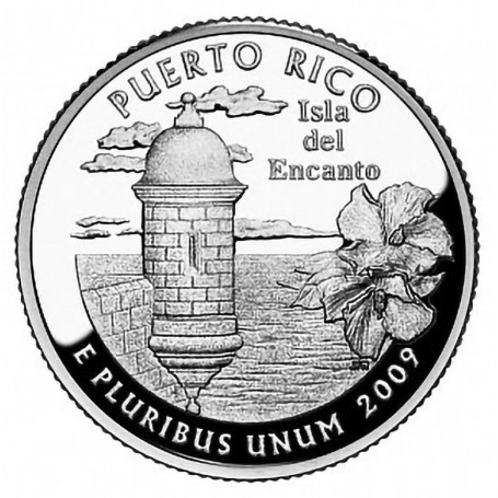 2009-S Puerto Rico Silver Quarter Proof