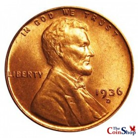 1936-D Lincoln Wheat Cent